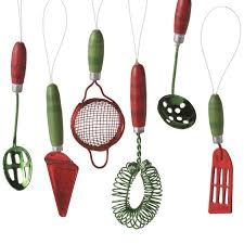of cannon falls mini kitchen utensil ornaments set of 6 usa