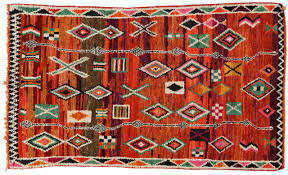 mid century modern berber moroccan rug with tribal design for sale