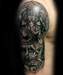 ganesha tattoo on shoulder 90 ganesh tattoo designs for men hindu ink ideas