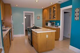 blue kitchen oak cabinets kitchen decoration