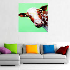 hand painted lovely cow wall art animal home decor modern oil