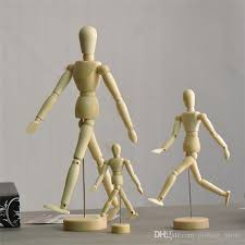 new artist movable limbs wooden figure model mannequin