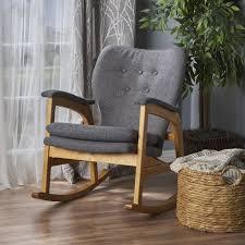 bethany mid century fabric rocking chair u2013 gdf studio