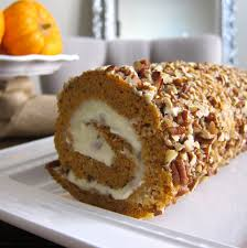 this is happiness cream cheese filled pumpkin roll
