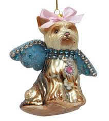 december diamonds glass ornament maltese with blue wings home page