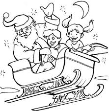 kids santa coloring page christmas coloring pages of