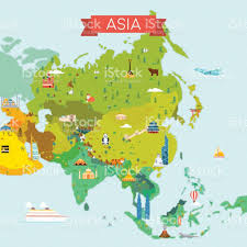 Maps Of Asia by Map Of Asia Stock Vector Art 641791022 Istock