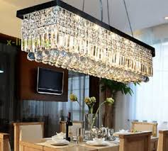 Colors  Rectangle Crystal Chandelier Lighting Pendant Light - Dining room crystal chandelier