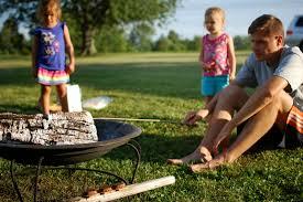 camping in the backyard