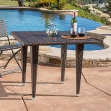 Patio Tables Only Wicker Outdoor Dining Tables For Less Overstock Com