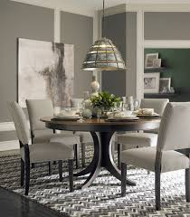 Dining Room Table Contemporary Custom Dining 60 Pedestal Table By Bassett Furniture