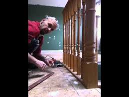 laminate floating floor installation with sill plate stairs