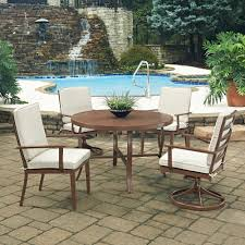 Hampton Bay Corranade 5 Piece - walker edison furniture company boardwalk brown 6 piece acacia
