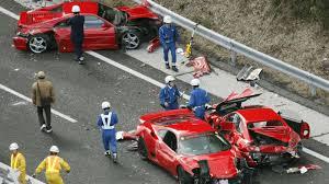 bugatti crash the ten most expensive car crashes ever