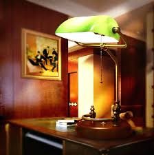 Desk Lighting Ideas Bankers Desk Lamp Green Glass Shade Lightings And Lamps Ideas