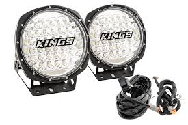 round led driving lights adventure kings domin8r 9 round led driving lights pair plus new