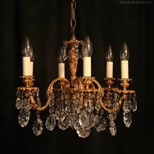 antique chandelier antiques atlas an italian 6 light bronze antique chandelier