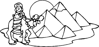 egypt desert coloring page wecoloringpage