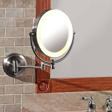bathroom mirror wall mount with extension arm best extendable