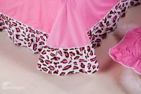 best selling leopard print with lace pink 4 piece cotton bedding