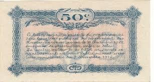 chambre des commerces tarbes 50 centimes 23 09 1917 chambre de commerce de tarbes annule neuf