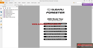 subaru forester 2005 service manual auto repair manual forum
