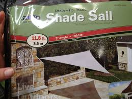 Costco Awnings Retractable Triangle Shade Sail Via Costco Shade Sails Pinterest