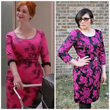 mad men dress sew melodic joan in shocking pink mad men dress challenge 3