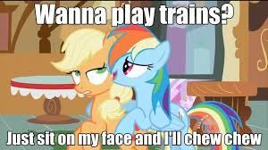 Sit On My Face Meme - 595364 appledash applejack lesbian meme rainbow dash