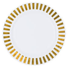 casino white gold plastic dinner plates smarty had a