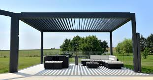Louvered Roof Pergola by Louvered Roof Awning Roller Blinds Brustor
