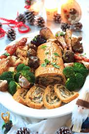 roast stuffed seitan roulade