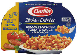 amazon com barilla italian entrees bacon flavored tomato sauce