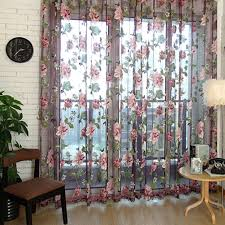 Shimmer Sheer Curtains Aliexpress Com Buy Brand Finether Flower Curtain Purple Tulle