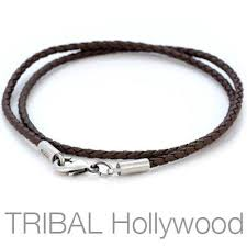 braided leather necklace images Braided leather necklaces for men tribal hollywood jpg