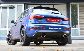 audi modified new exhaust system for audi rs q3 with bypass valve and dual oval