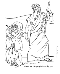 bible coloring pages moses coloring