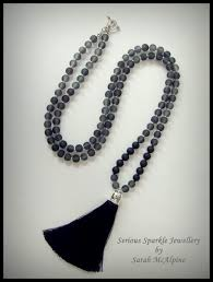 black tassel necklace images Grey and black tassel necklace serious sparkle jewellery jpg