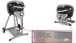 Patio Bistro Grill 22373 Charbroil Patio Bistro Gas Grills Recalls Meijer