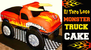 monster truck jam videos youtube monster jam el toro loco monster truck cake youtube