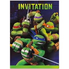 teenage mutant ninja turtle birthday invitations template best