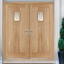 Double Glazed Wooden Front Doors by External Rebated Doors U0026 Image Is Loading French Door Pair