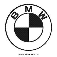 black and white bmw logo logo carbon decal 4