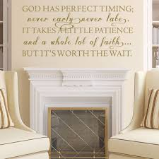 God Has Perfect Timing Decal Christian Wall Art Inspirational - Family room wall decals