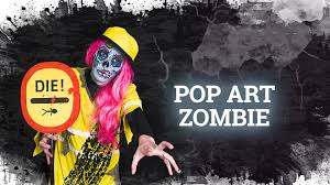 Pop Art Costume Halloween Pop Art Zombie Makeup U0026 Costume Halloween Tutorial El Maquillaje