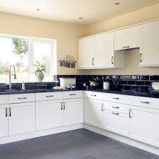 black and white tile kitchen ideas black kitchen tile photo 4 beautiful pictures of design
