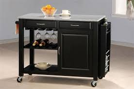 kitchen island cart with granite top kitchen island cart granite top with black phsrescue com