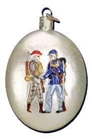 world ornaments civil war commemorative glass