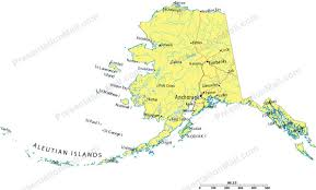 alaska major cities map alaska powerpoint map counties major cities and major highways