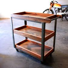 Industrial Modern Furniture by Industrial Bar Cart Reclaimed Wood Serving Cart Rustic